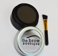 soft black eyebrow powder